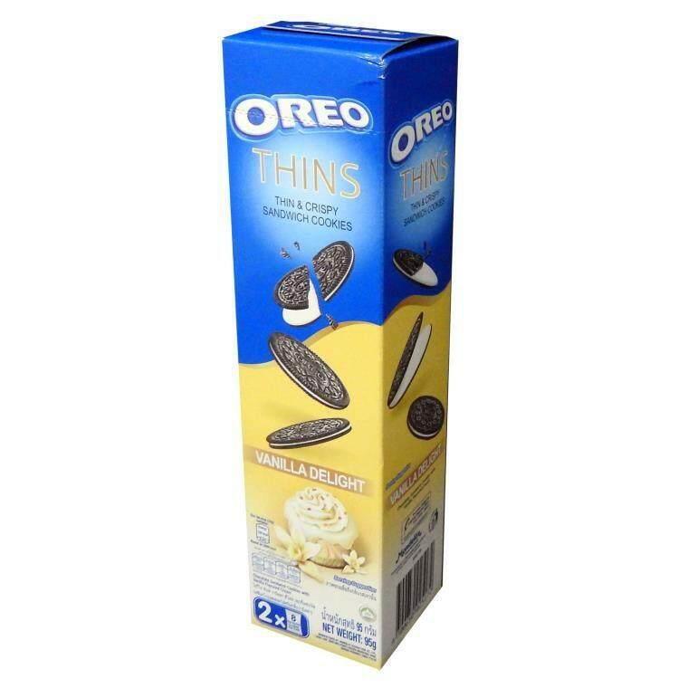 OREO THINS COOKIES  VANILLA DELIGHT (95G) -READY STOCK