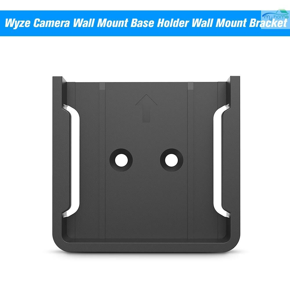 Monitors - Wyze Camera Wall Mount Base Holder Wall Mount Bracket For Wyze Cam Smart Camera and iSmart Alarm - BLACK / WHITE