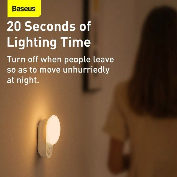 Đèn Ngủ LED Từ Tính Baseus, Đèn Ngủ Cảm Ứng Cảm Biến, Đèn Tủ Bếp Có Thể Tháo Rời Cho Tủ Quần Áo Đèn Phòng Ngủ