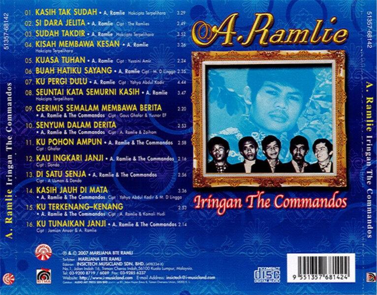 A. Ramlie Iringan The Commandos Kasih Tak Sudah CD Lagu Pop Yeh Yeh Original New And Sealed