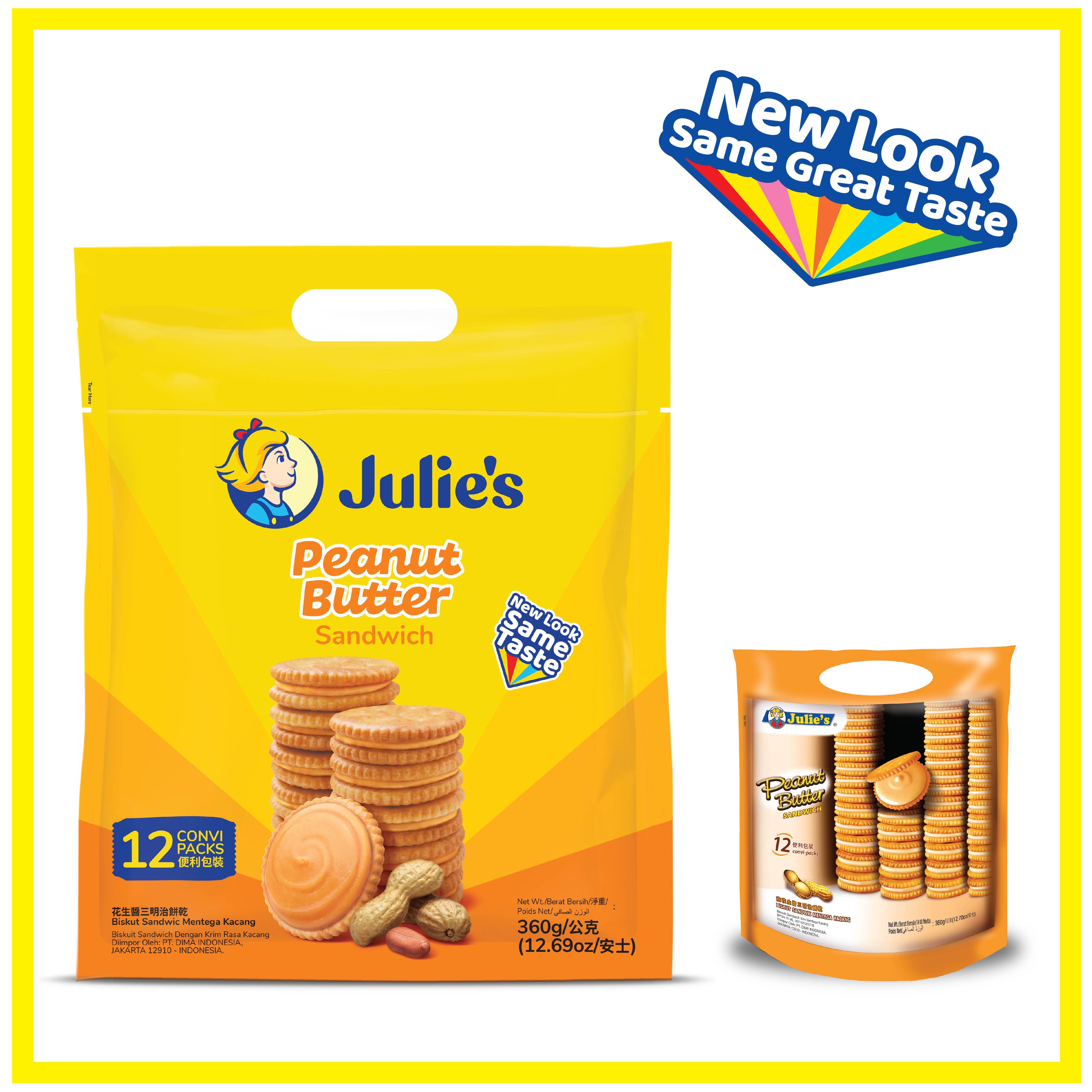 Julies Peanut Butter Sandwich 360g x 1 pack