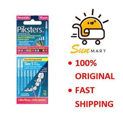 Piksters Interdental Brush Size 5 - Blue (10 Pcs/Pack)