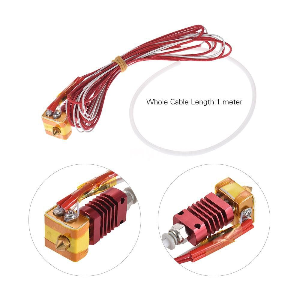 Printers & Projectors - 1 Piece MK8 3D Printer Extruder Kit 0.4mm Nozzle for 1.75mm Filament 3D printer Parts for Creality - RED