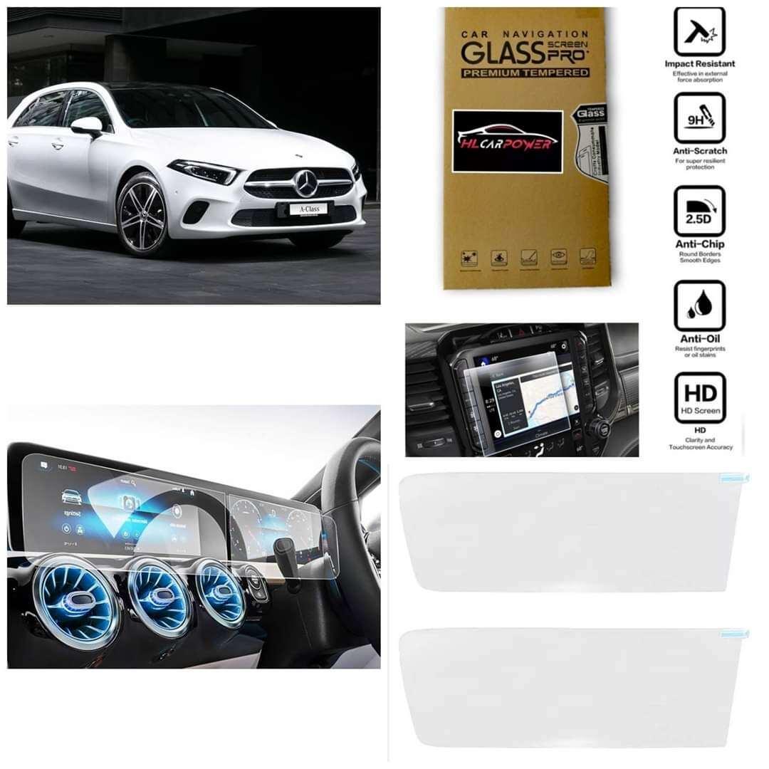 Mercedes Benz W177 Hatchback Sedan A200 A250 A35 Head Unit Navigation & Meter Screen Protector Tempered Glass