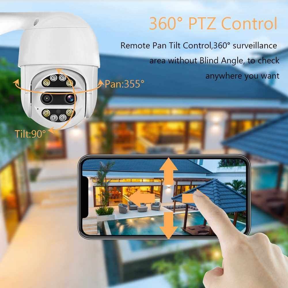 1080P HD Wireless Indoor Outdoor PTZ Home Security Camera (5X Digital) WiFi Surveillance Dome Camera with Smart Night Vision,Motion Detection,Remote Access,Two-way Audio (Eu Plug)
