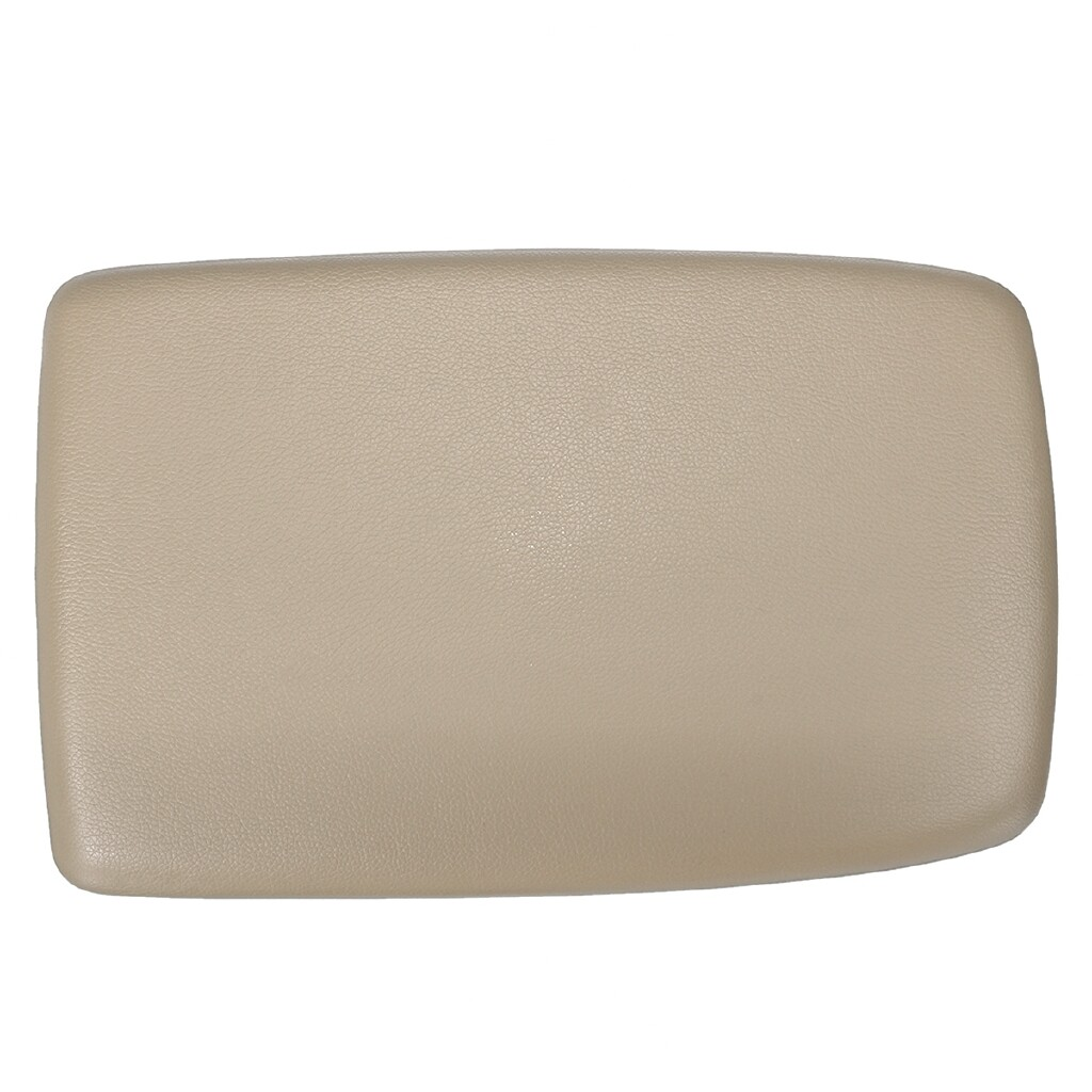 Car Accessories - PU Leather Center Armrest Console Lid Cover For Toyota Highlander 08-13 Beige - Automotive