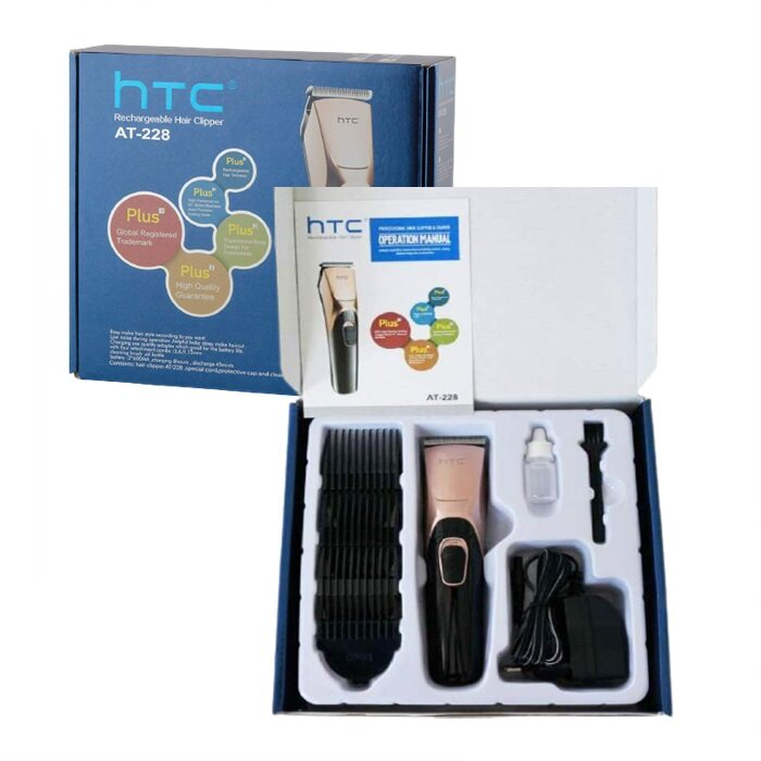 HAIRperone HTC AT-228 Rechargeable Cordless Hair Trimmer Clipper Wireless Shaver