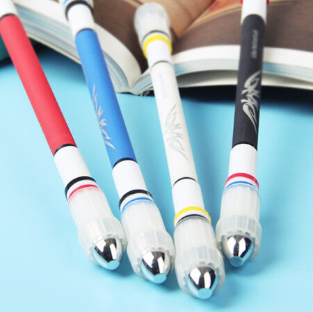 Smooth Surface Ant-slip Anti-drop Spinning Rotation Pen with 0.5 Pen Head for Fluent Writing