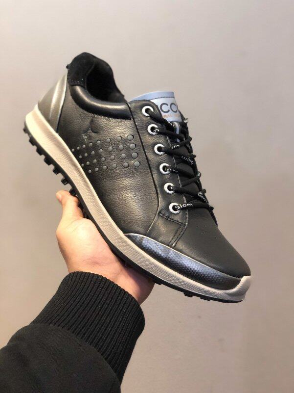 Giày Chơi Golf EccoForeign Cho Nam, Giày Thể Thao Giải Trí Đế Bằng Da, Cố Định, Chống Nước, Gắn Đinh giá rẻ