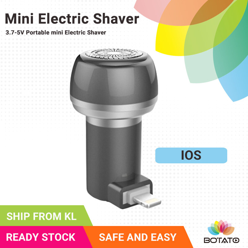 MINI ELECTRIC SHAVER iPhone IOS Port with Brusher and Pouch Shaving Outdoor Portable Professional Three Blade Device