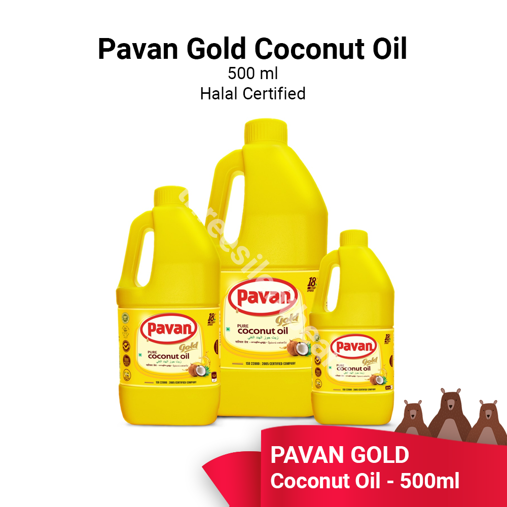 PAVAN GOLD COCONUT OIL 500ML - READY STOCK - FAST SHIPPING - VALUE BUY