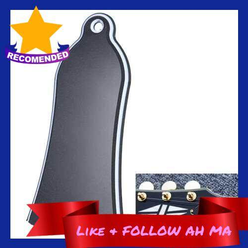 Best Selling 2 Holes Bell-shaped PVC Truss Rod Cover Plate Scroll Plate for Gibson LP SG Flying V ES Guitar Black (Black)