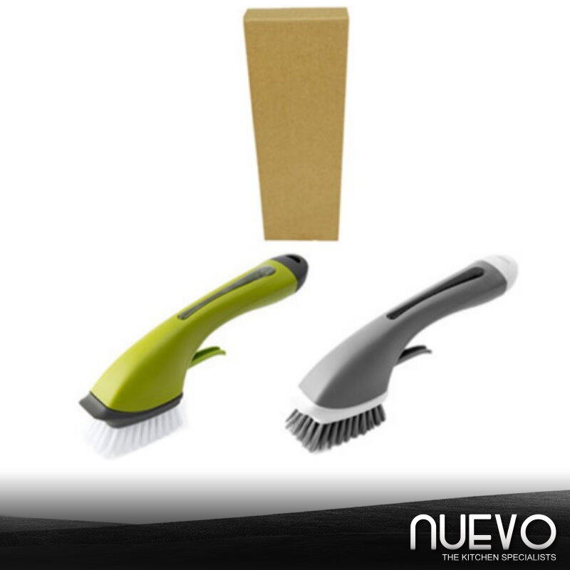 Long handle automatic liquid cleaning brush kitchen press can spray water to wash pot stove brush to put dishwashing