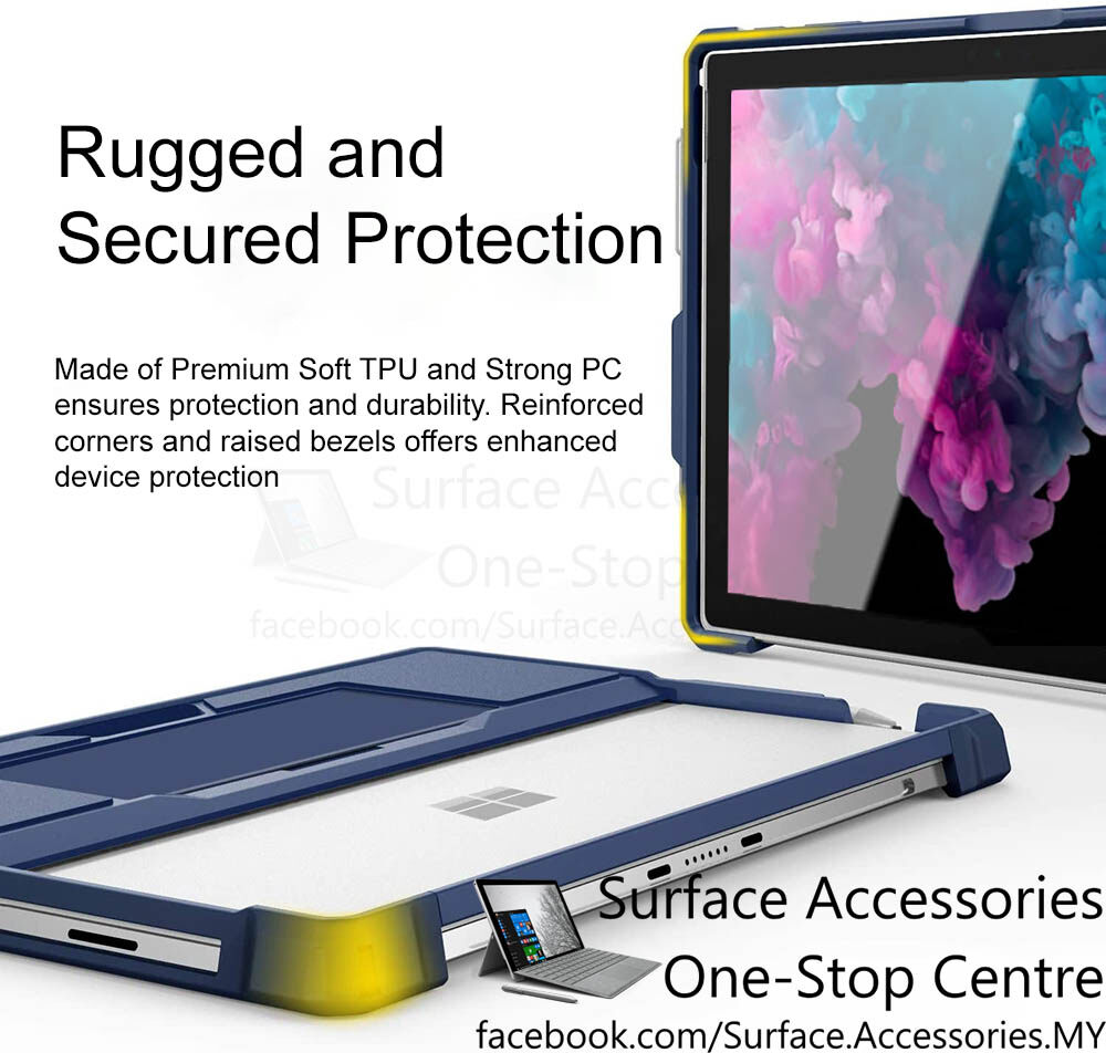 [MALAYSIA]Microsoft Surface Pro 7 Rugged Casing Surface Pro 7 Cover Rugged Case Stand Flip Case with Pen Holder Case Surface Pro 7 Protective Case Surface Pro 6 Rugged Case Surface Pro 5 Rugged Case Surface Pro 4 Rugged Case