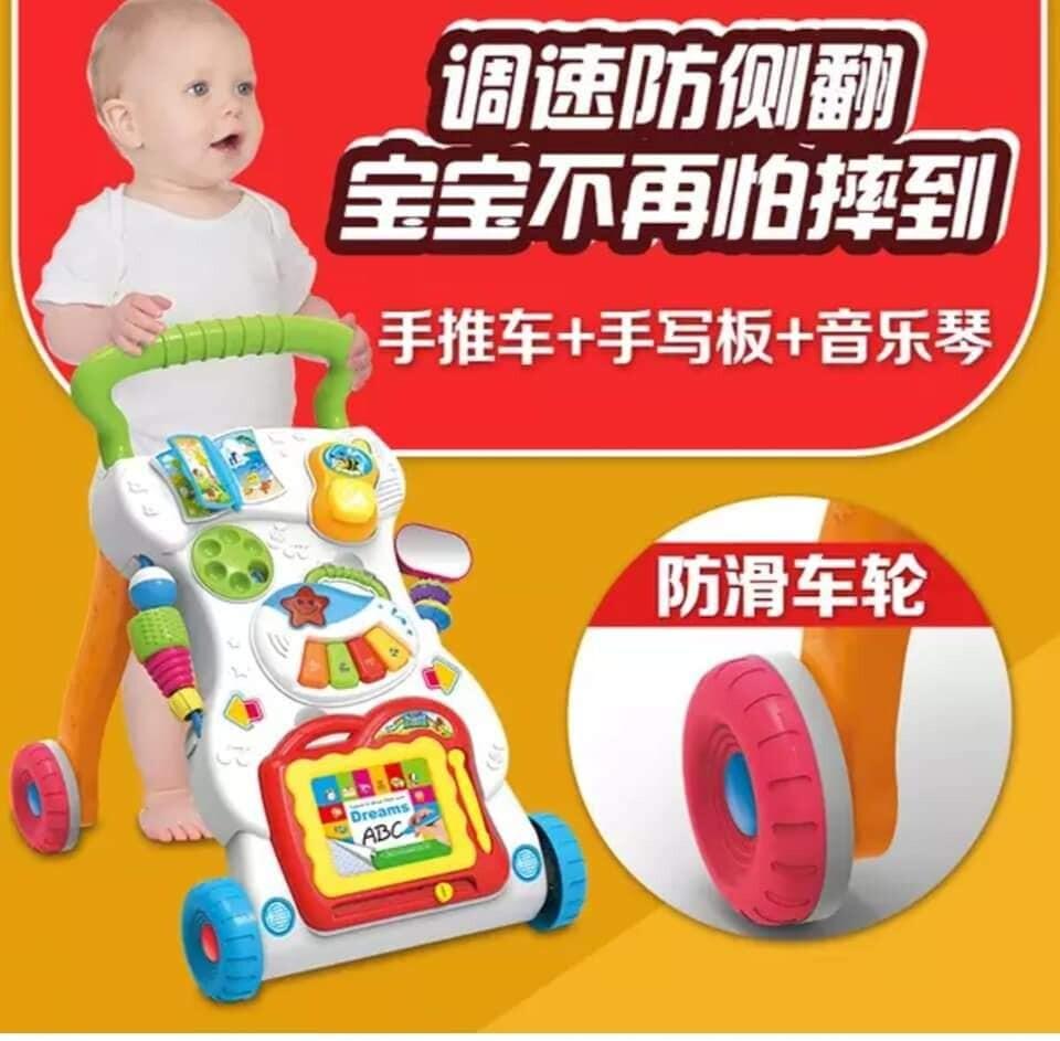 READY STOCKTODDLER MUSIC MULTIPURPOSE BABY WALKER TROLLEY WALKING LEARNING CAR