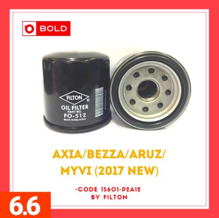 Perodua Engine Oil Filter for Axia/Bezza/Aruz/Myvi(2017 new) Brand Filton penapis minyak