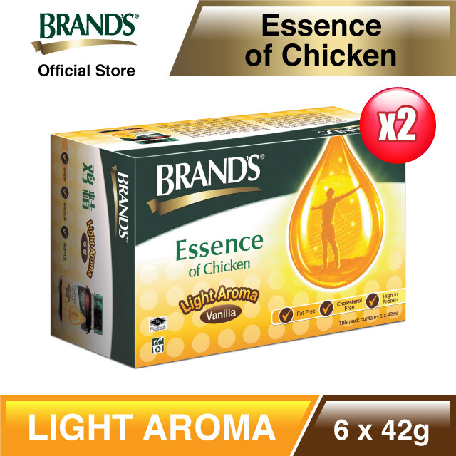 [Immunity & Energy Booster] BRAND'S Essence of Chicken Light Aroma Twin Pack (6s x 2 x 42ml - EXPIRY JAN 2022)