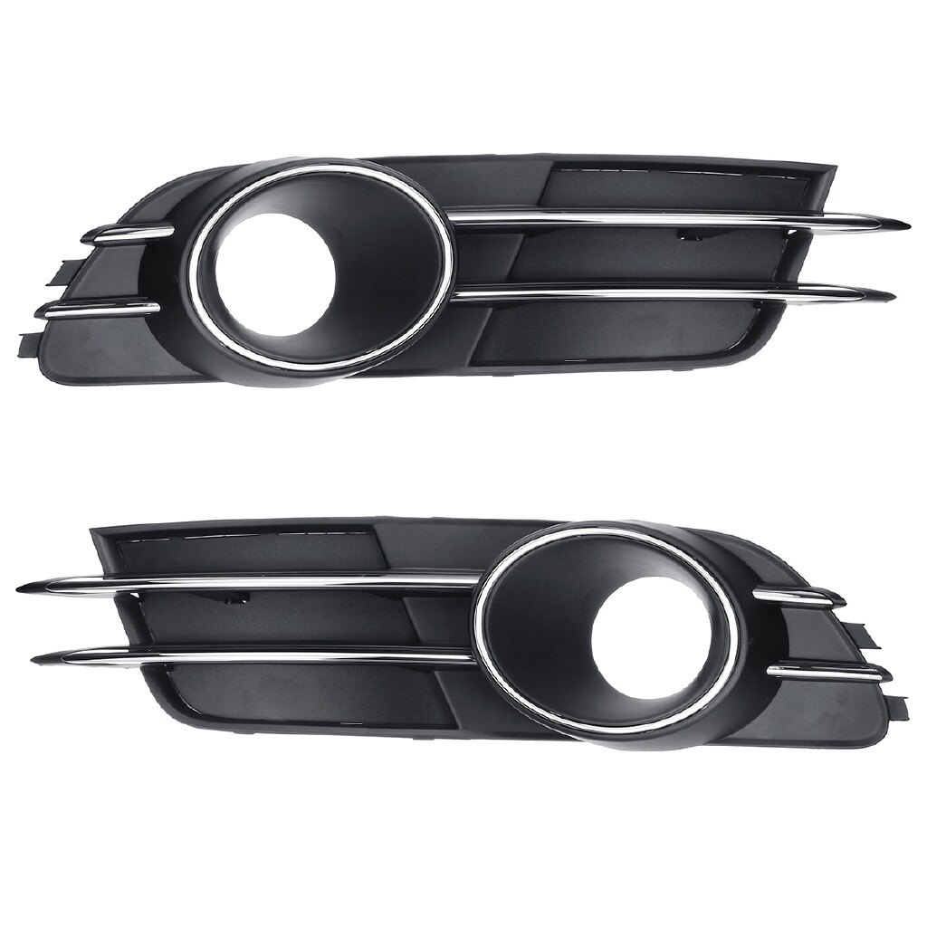 Car Lights - Pair Front Lower Bumper Fog Light Grill Grille Cover For AUDI A6 C7 2011-2017 - Replacement Parts