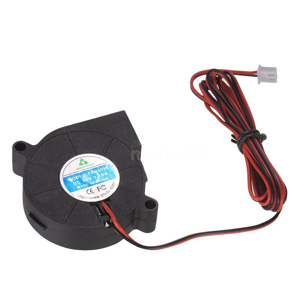 Printers & Projectors - 5015 Brushless Cooling Blower Fan DC 12V 0.19A Turbo Small Fan ULTRA-Quiet Oil Bearing 6500RPM Size - BLACK