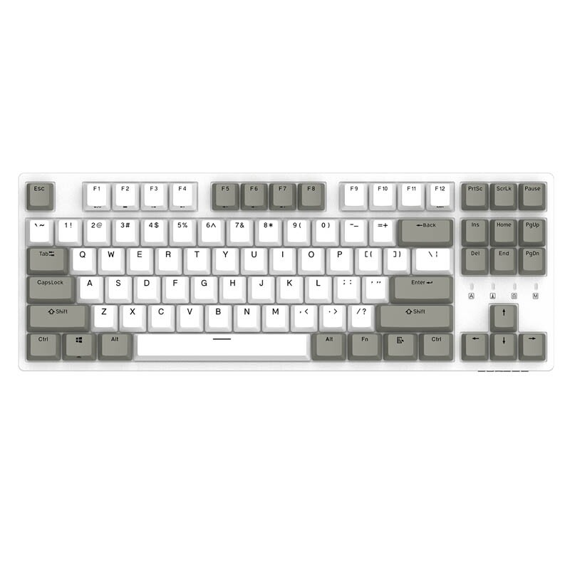 Keyboards - ORIGINAL DURGOD K320 Cherry MX Switch PBT Keycaps White Gray Mechanical Gaming Keyboard - RED SWITCH / BROWN SWITCH