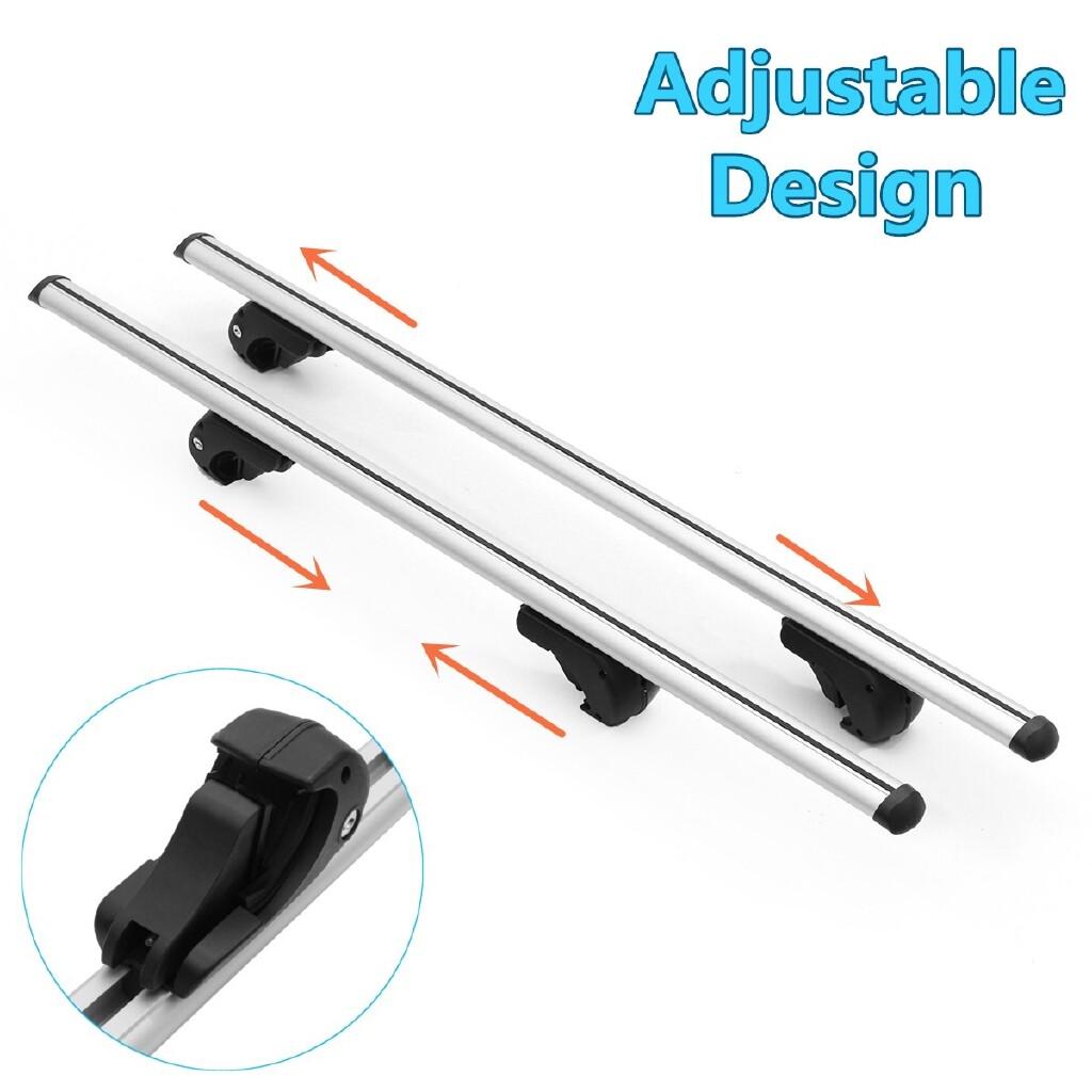 Car Accessories - Pair Universal 48 120cm Aero Locking Car Top Cross Bar Roof Rack Cargo Luggage - Automotive
