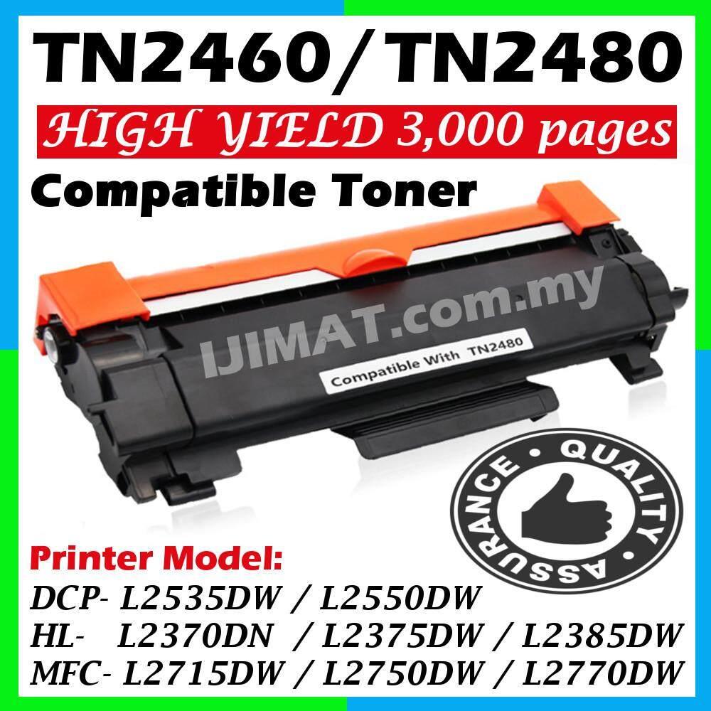 TN-2480 TN-2460 TN2480 TN2460 Compatible Laser Toner Cartridge HL-L2370DN HLL2370DN HL L2370DN / HL-L2385DW HLL2385DW HL L2385DW / DCP-L2550DW DCPL2550DW DCP L2550DW / MFC-L2715DW MFCL2715DW MFC L2715DW / MFC-L2770DW MFCL2770DW MFC L2770DW Printer