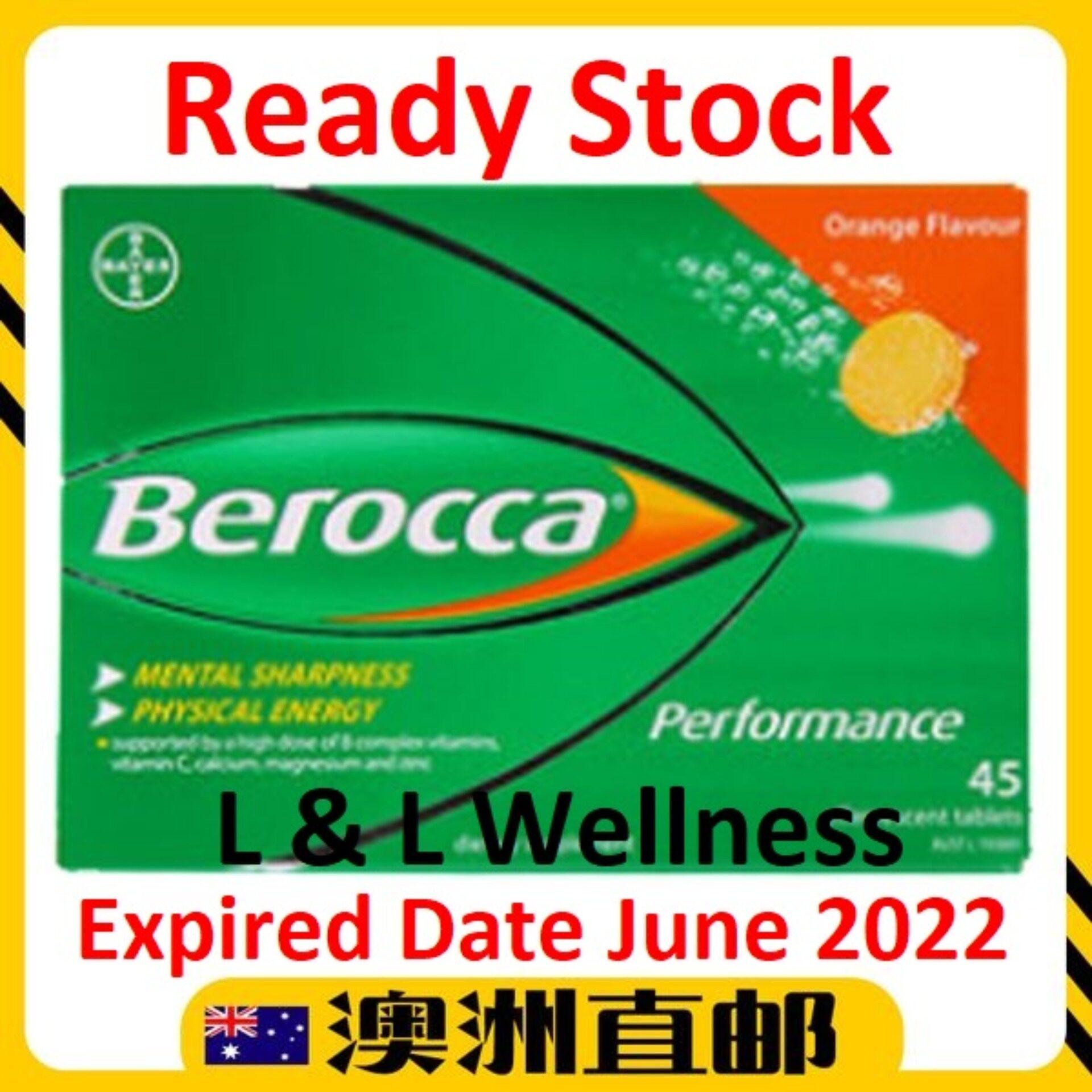 [Ready Stock EXP: 06/2022yr] Berocca Performance Orange ( 45 Effervescent Vitamin C Tablets ) (Made In Australia)