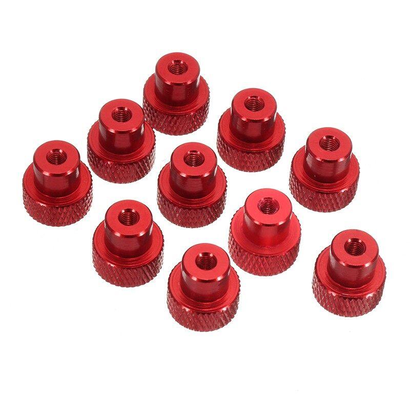 Gadgets - 10 PIECE(s) M3 aluminum alloy ULTRA-light frame hand-tight nut nut CNC - RED / BLACK