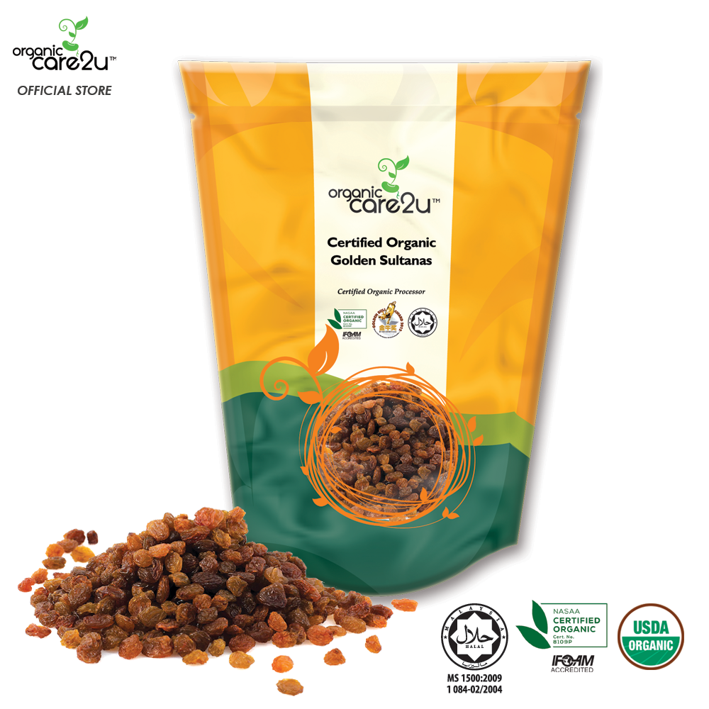 Organic Care2u Organic Sultana / Golden Raisin (200g)