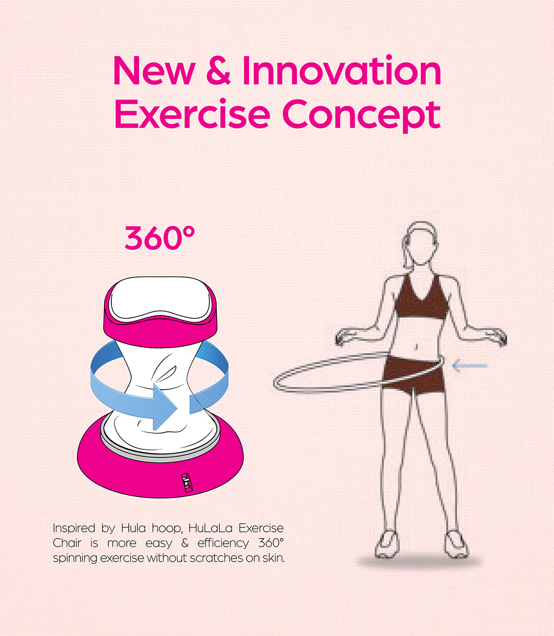 GINTELL HuLaLa Exercise Chair (Vogue Pink)