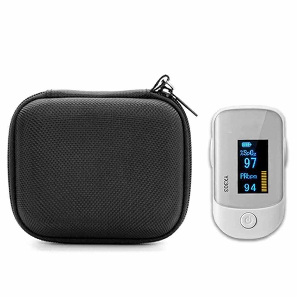Oximeter Case Fingertip Pulse Oximeter Storage Bag Oximeter Portable Zipper Carry Pouch (Standard)