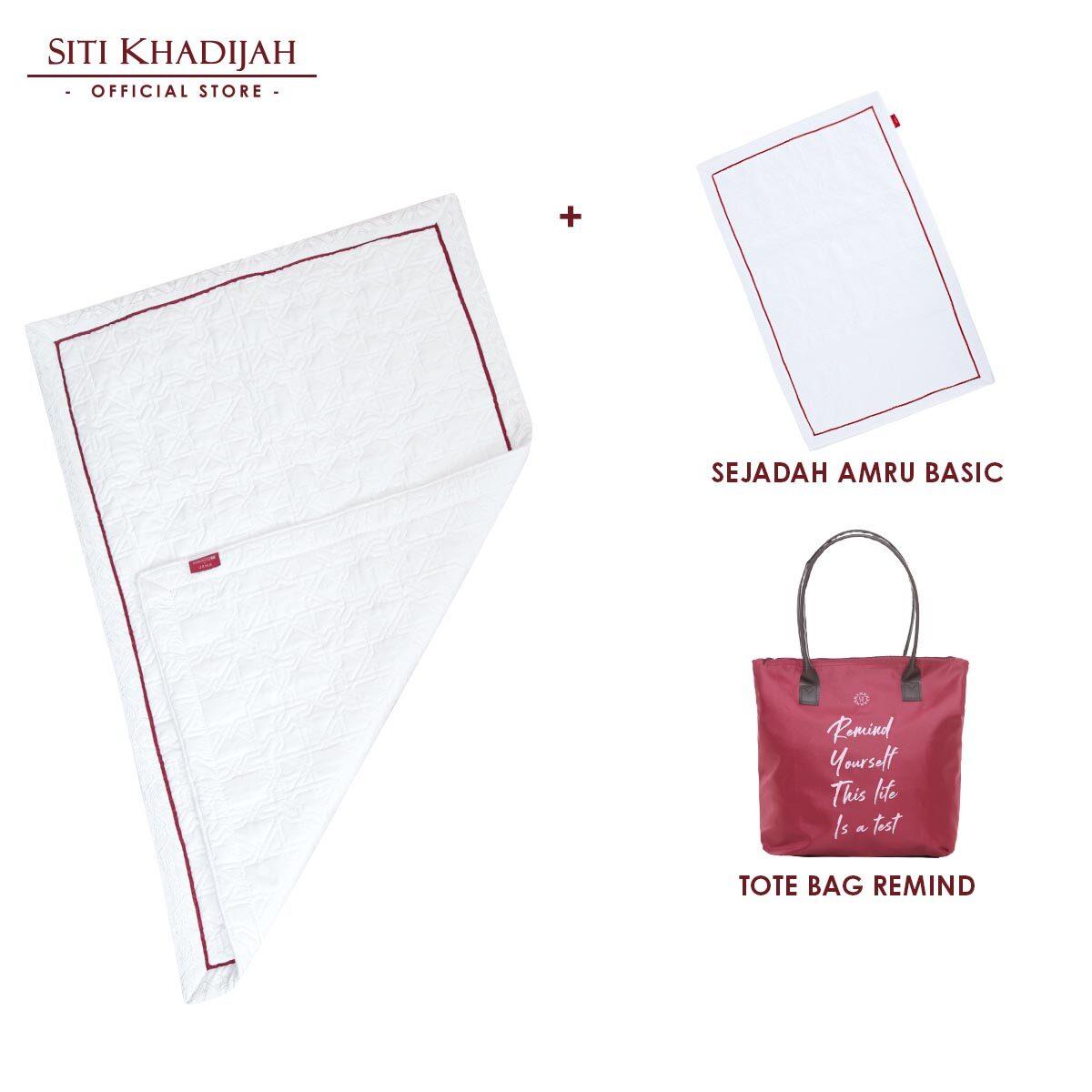 Siti Khadijah Sejadah Amru Mini + Sejadah Amru Basic (Free Tote Bag Remind)