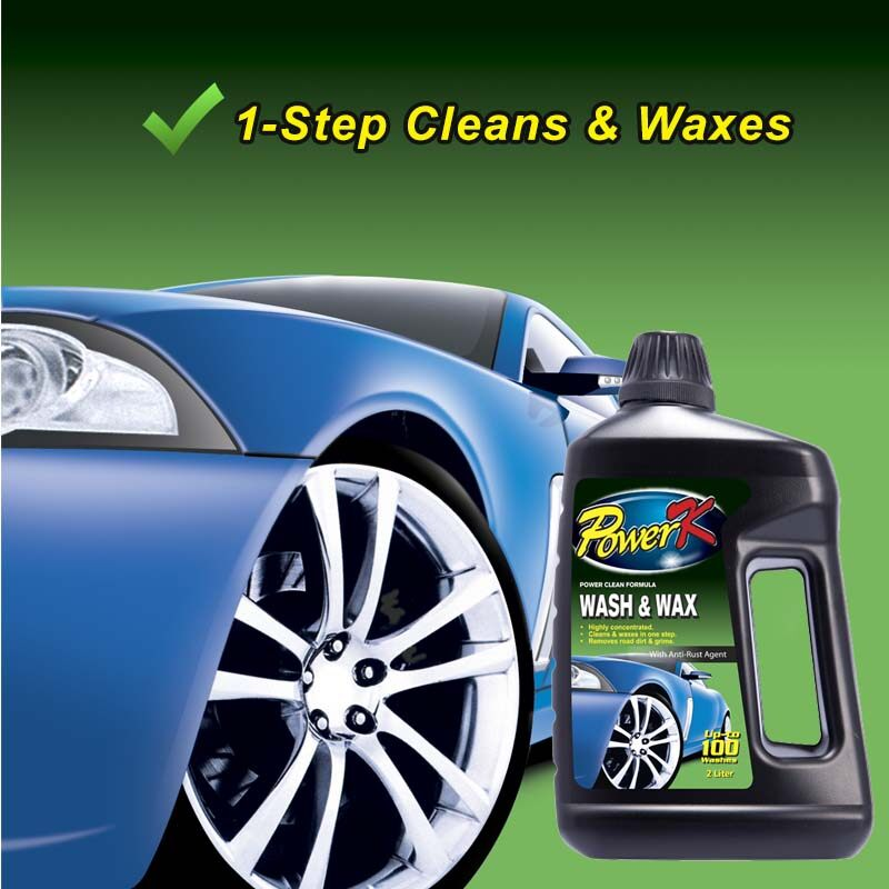 Power-K Car Wash and Wax 2 Liter