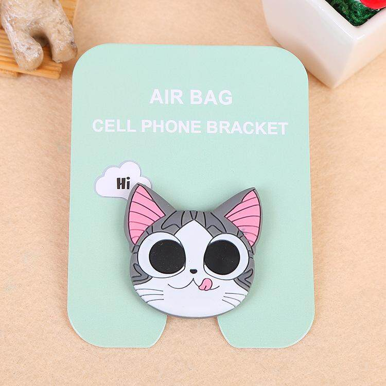 Cute Smilling Cat Cartoon Pattern Airbag Cellphone Bracket Phone Stand Holder
