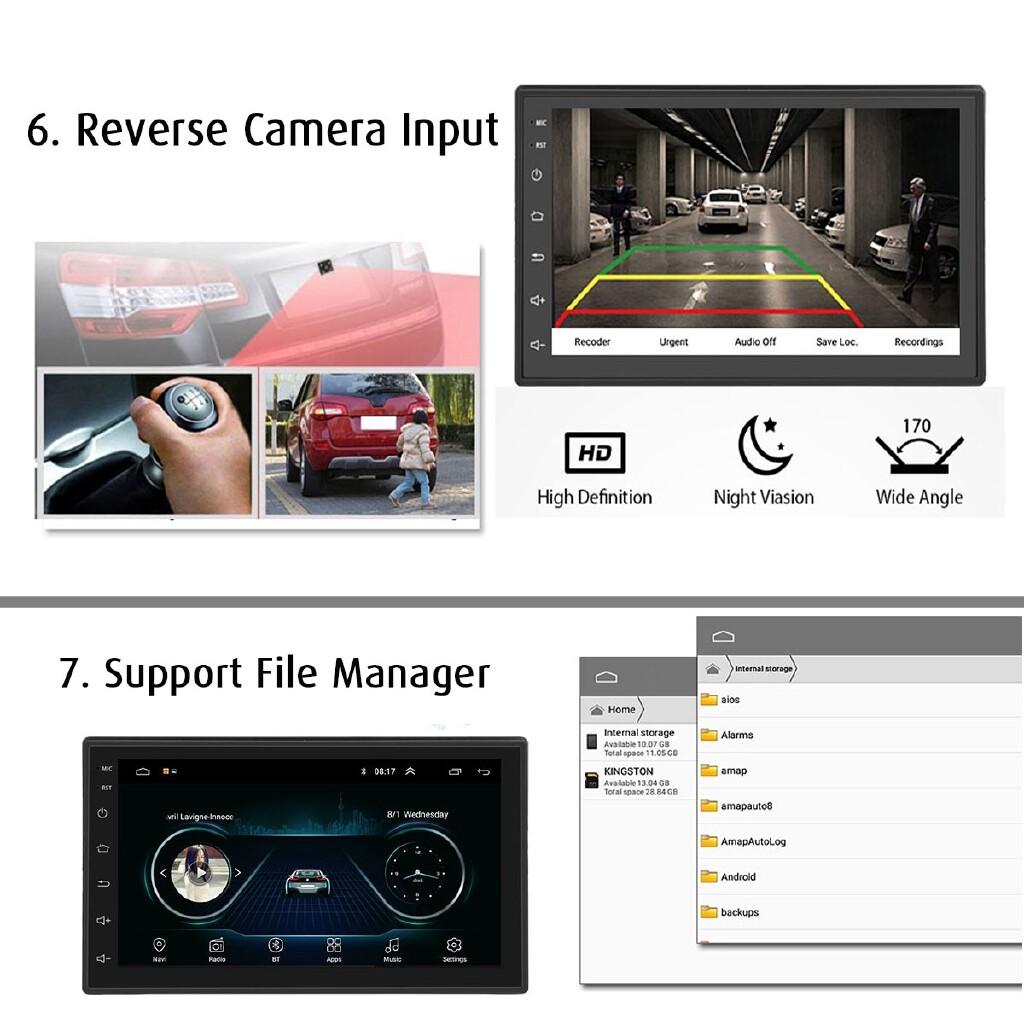 Car Radios - 7'' Android 8.0 Double Din Car Stereo Radio Nav BLUETOOTH WIFI MP5 Player - Electronics