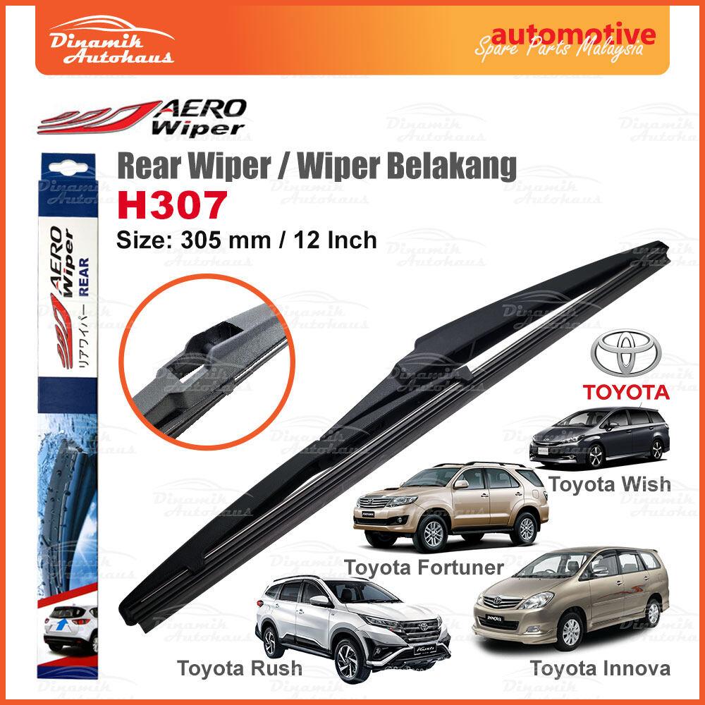 Toyota Fortuner / Innova / Rush / Wish Car Rear Wiper Blade 12 Inch - Aero Rear Wiper H307