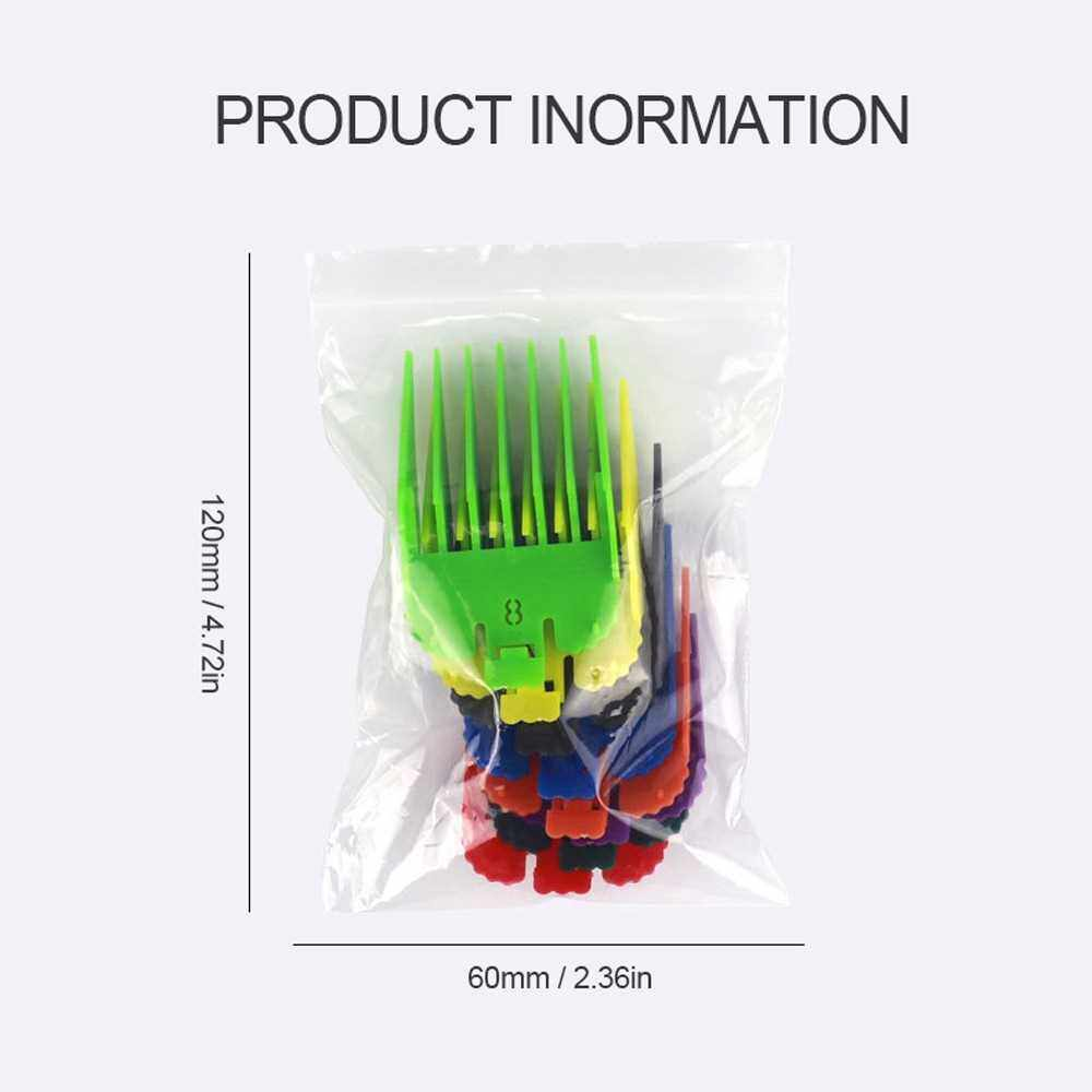 Best Selling 8Pcs/Set Universal Limit Comb for Hair Trimmer Haircut Guide Attachment Barber Haircutter Replacement Accessory (Black)