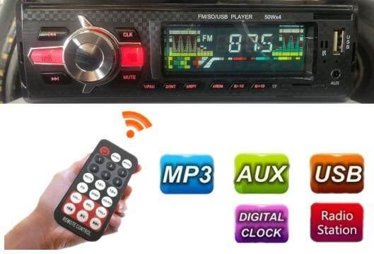 Car Radio Stereo Head Unit MP3 Compact Player MP3/USB/SD/AUX-IN/FM