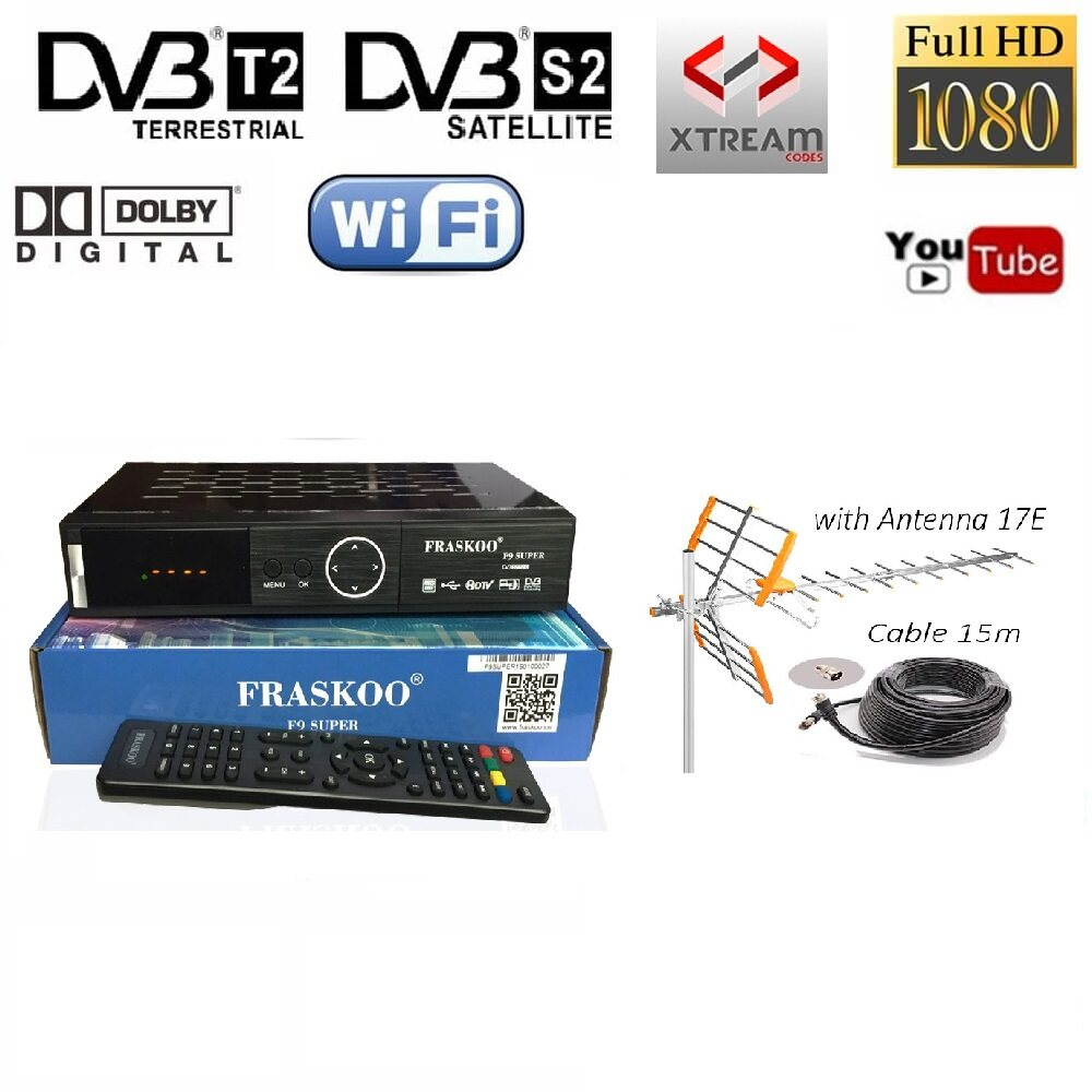 Fraskoo F9 Super Combo S2 T2 Digital TV Ninmedia