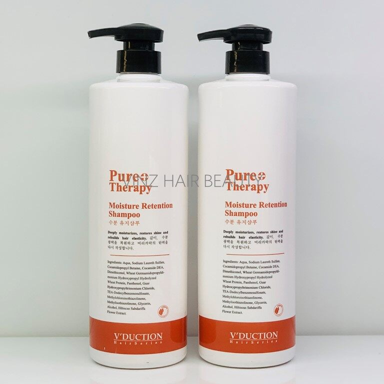 V'DUCTION Pure Therapy Moisture Retention Shampoo 1000ml x2