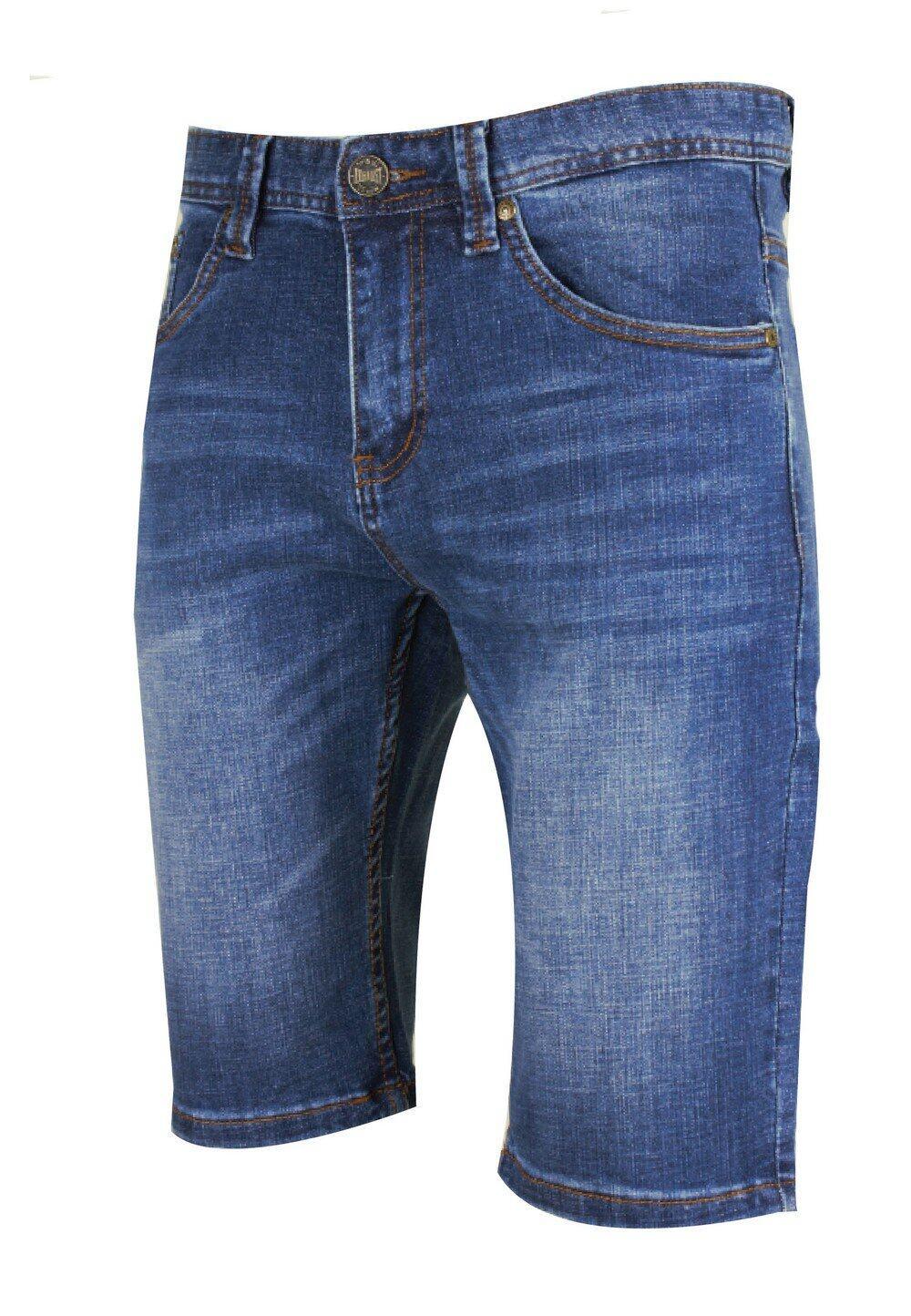 Exhaust Stretchable Denim Short Pants Slim Fit 779