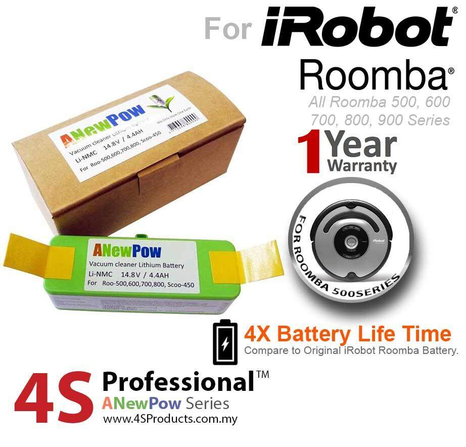 iRobot Roomba Lithium Battery Replacement 4400mAH (Double Performance) Extended to 18 months Warranty