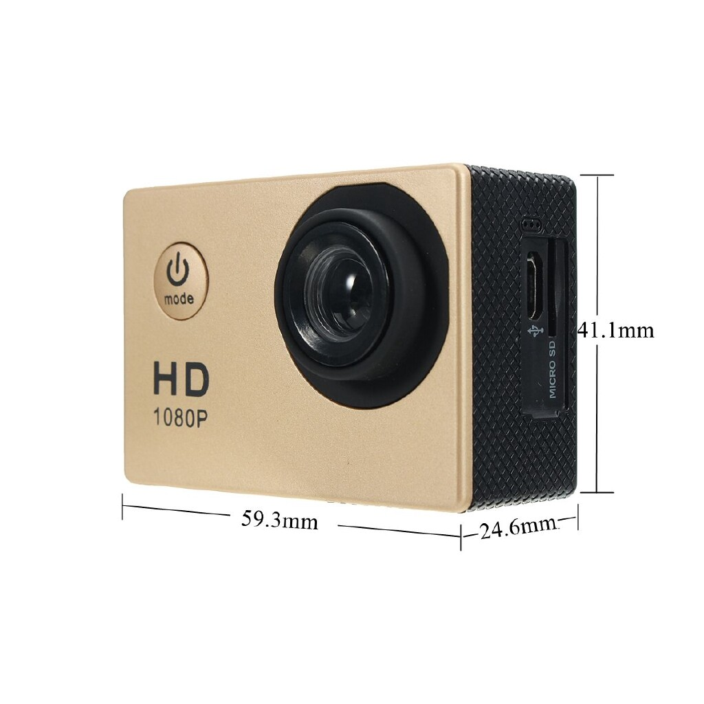 Sports & Action Cameras - SJ4000 Waterproof Sport Video HD 1080P Action Camera Camcorder Helmet Cam DV DVR - YELLOW / PINK / BLACK / BLUE / GOLD / WHITE / SILVER
