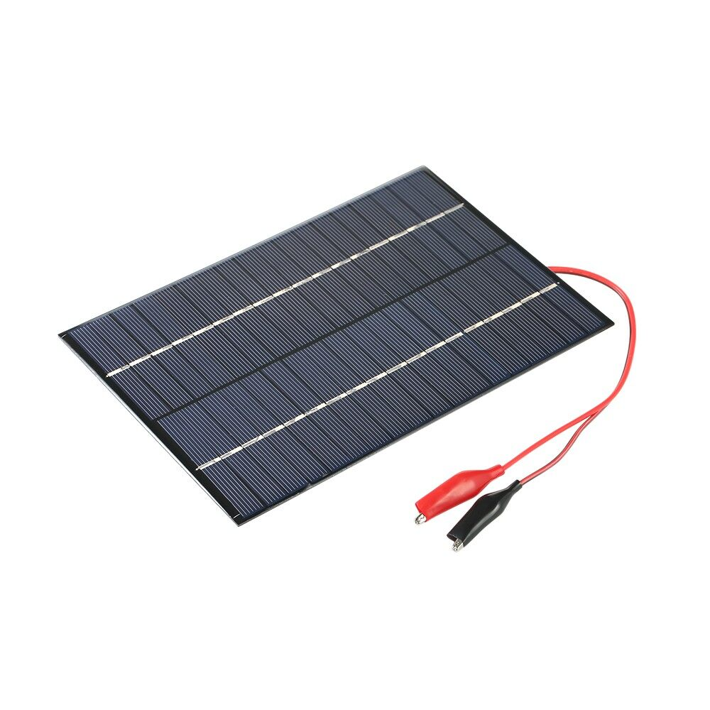 Home Improvement - 4.2W 18V Polycrystalline Silicon Solar Panel with Alligator Clips Solar Cell - Living