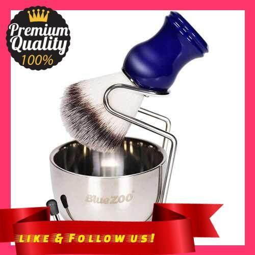 People\'s Choice Blue ZOO Shaving Kit Set for Men\'s Wet Shaving Brush Holder Stand Bracket Rack Soap Bowl Mug Hair Removal Beard Brush Portable (2)
