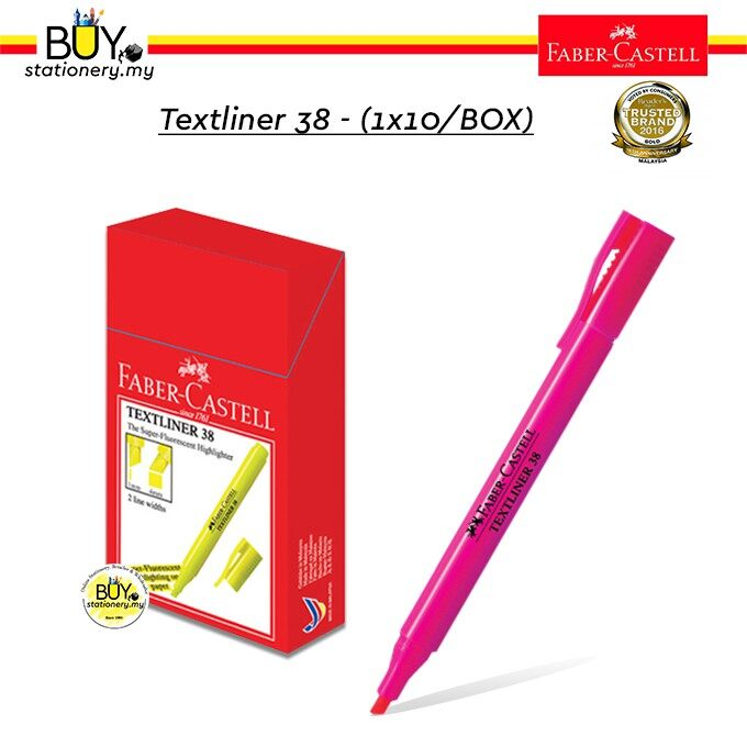 Faber Castell Textliner 38/ Highlighter 38 - (1X10/Box)