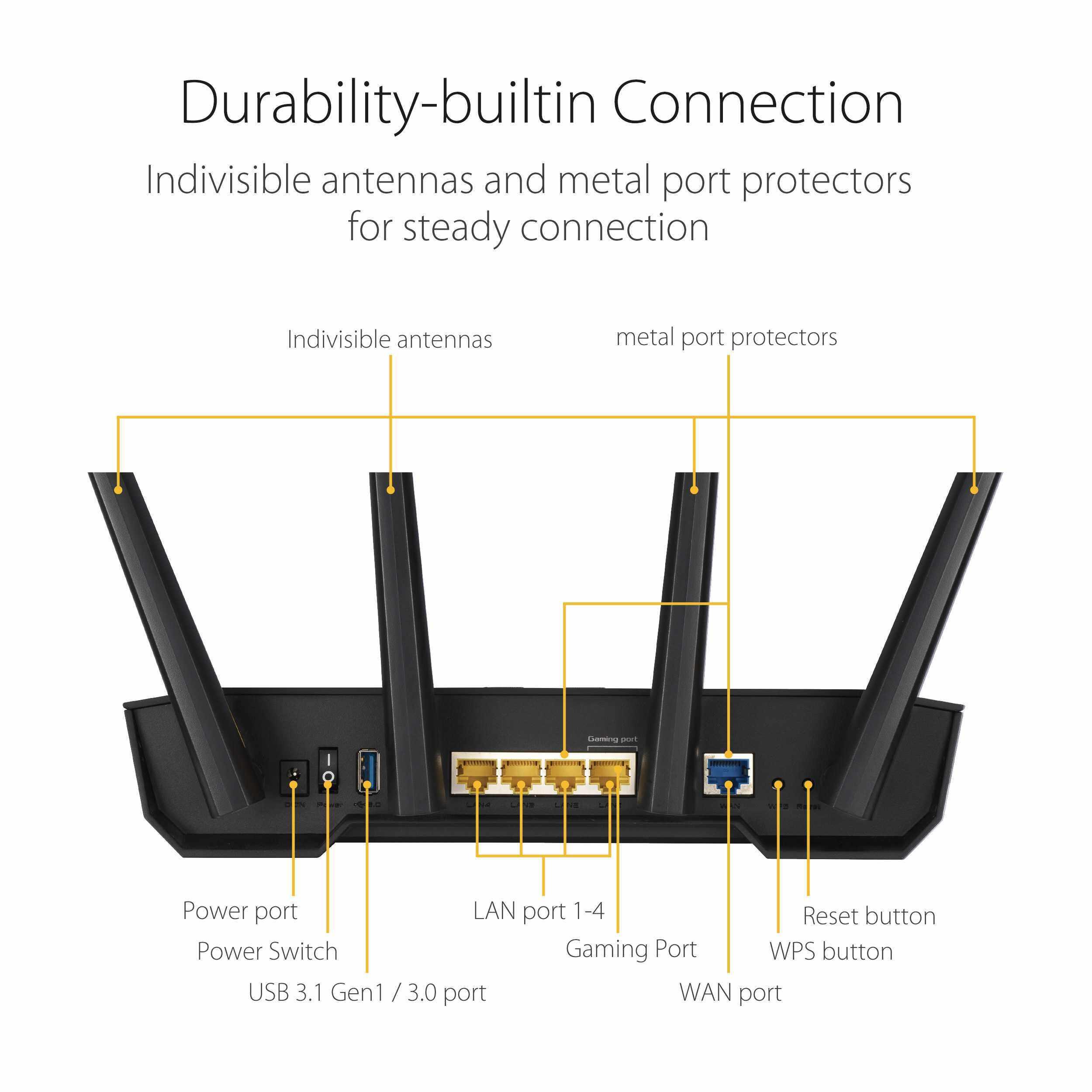 ASUS TUF GAMING AX3000 WiFi Router RT-AX3000 AiMesh Wireless AX WiFi 6 for Unifi