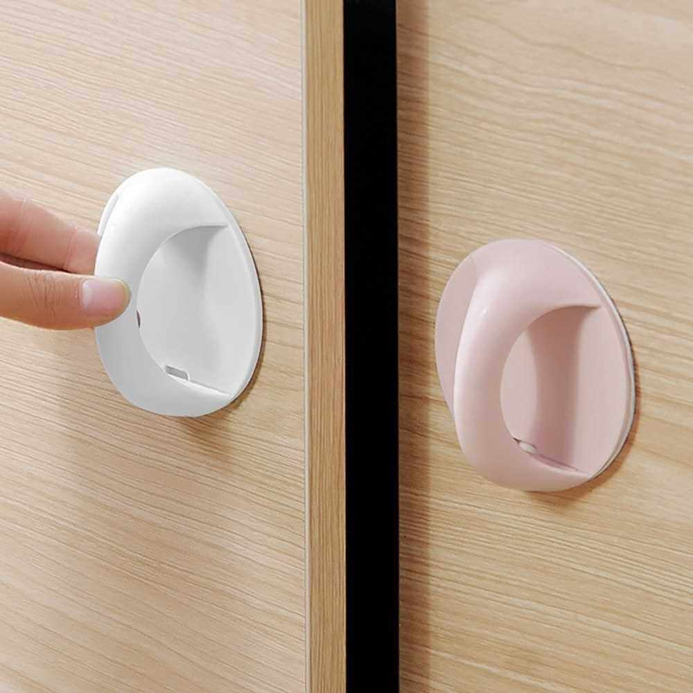 Door Auxiliary Handle Self-Stick Instant Cabinet Drawer Handle Window Auxiliary Handle Small Handle for Cabinet Door (Pink)