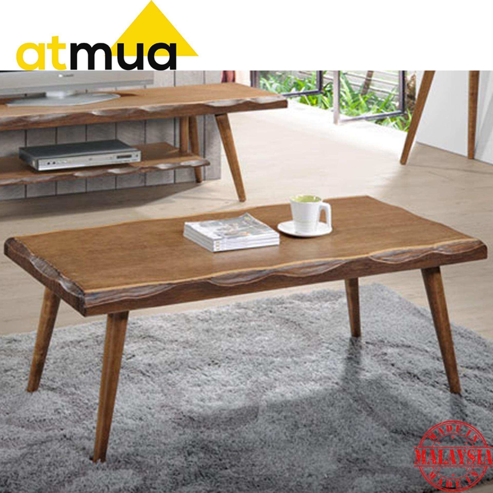 [Promotion] Atmua Log Coffee Table (4 Feet) [Veneer with Wooden Leg]