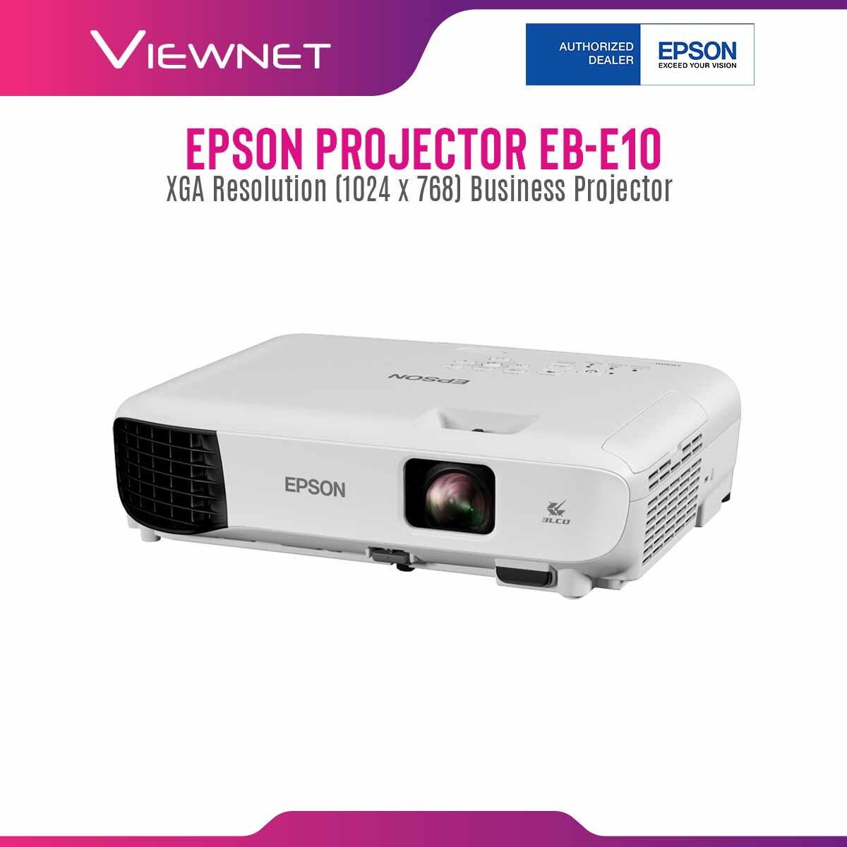 Epson Projector EB-E10 with XGA Resolution (1024 x 768), 3600 Lumens, 12000 Hours Lamp Life in Eco Mode